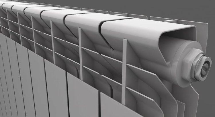 Алюминиевый радиатор детали
