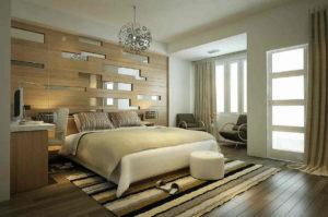 Спальня в интерьере контемпорари