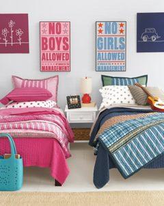 Мебель в детскую комнату для двоих детей: кровати в интерьерах