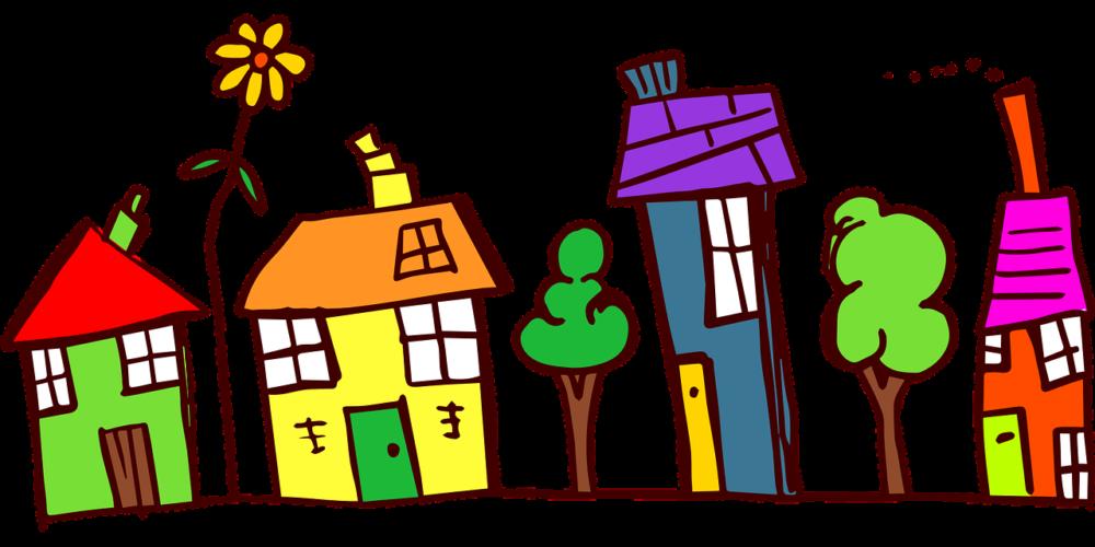 Яркие дома