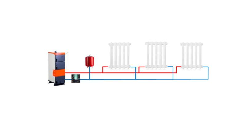 Двухтрубная система отопления, классическая схема
