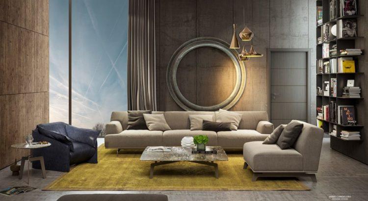 Интерьер гостиной настенные панели