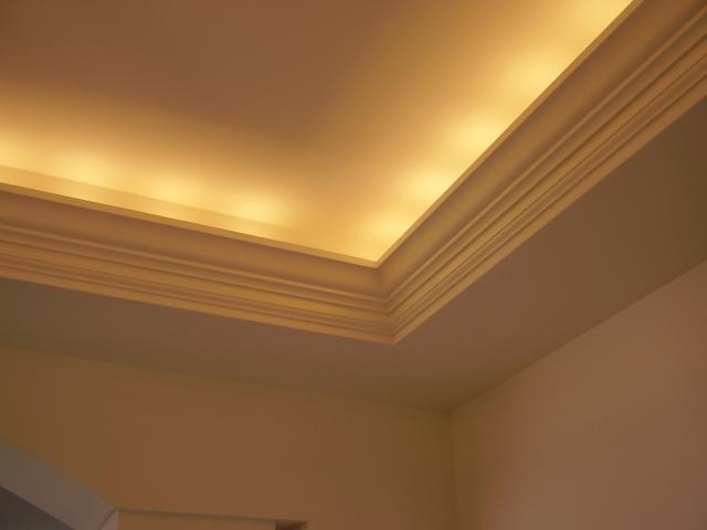 Подсветка потолочного плинтуса
