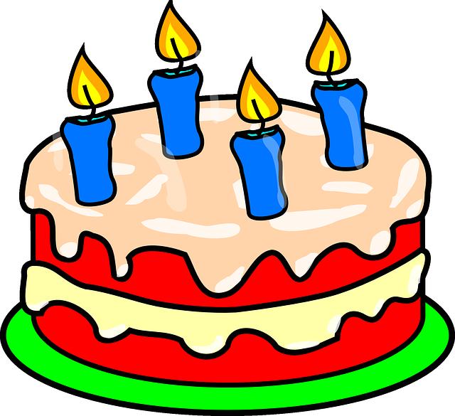 Торт со свечками картинки нарисованные