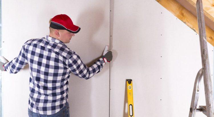 Как установить стену из гипсокартона без каркаса